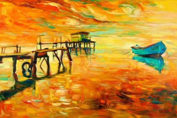 barco sobre un lago