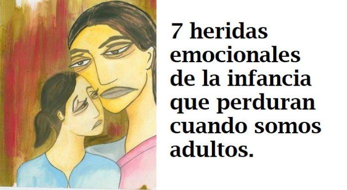 7 llagas emocionales de la infancia